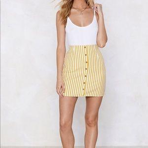 Nasty Gal striped skirt